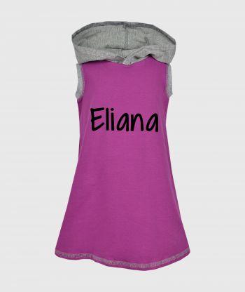 Everyday Cosy Purple/Grey Dress