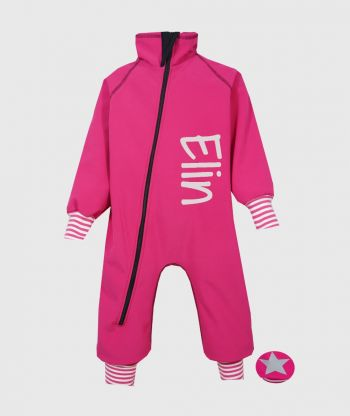 Waterproof Softshell Overall Comfy Rose Striped Cuffs Bodysuit