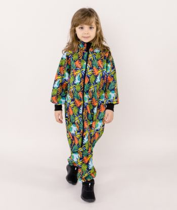 Waterproof Softshell Overall Comfy Colorful Leaves Jumpsuit