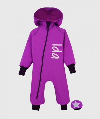Waterproof Softshell Overall Comfy Royal Purple Jumpsuit
