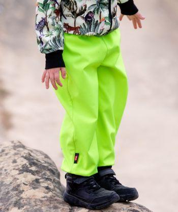 Waterproof Softshell Pants Neon Green