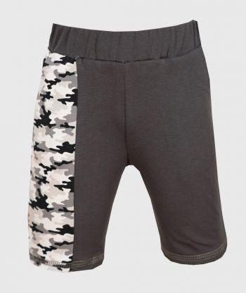 Short Pants Pockets Camouflage Grey
