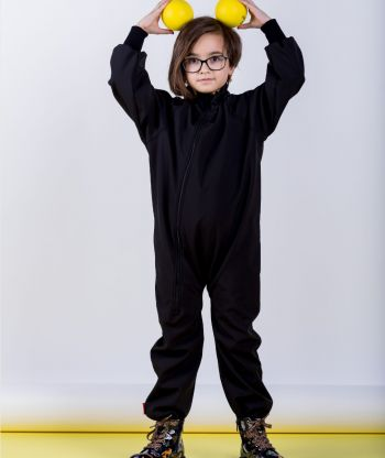 Waterproof Softshell Overall Comfy  Black Bodysuit