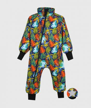 WATERPROOF SOFTSHELL OVERALL COMFY COLORFUL LEAVES BODYSUIT