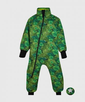 Waterproof Softshell Overall Comfy Green Plants Bodysuit