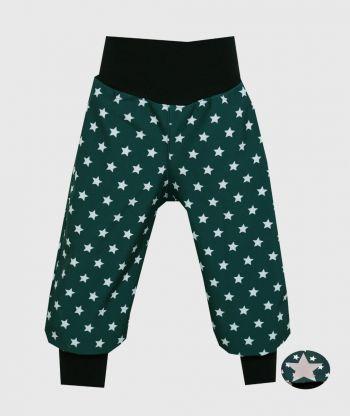 Waterproof Softshell Pants Green Stars