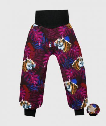 Waterproof Softshell Pants Tigers Purple